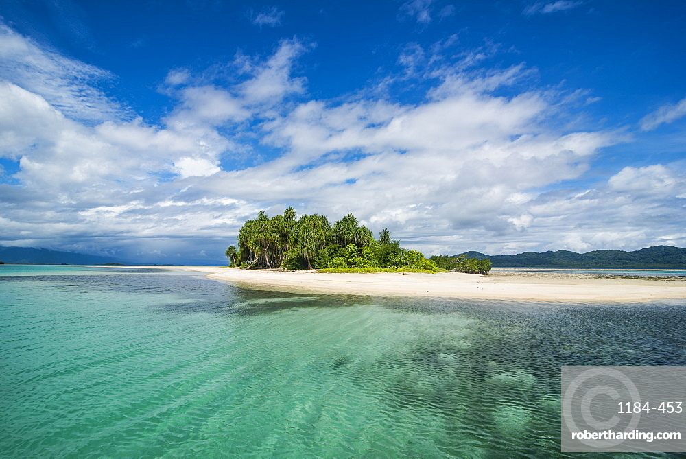 Turquoise water and white sand beach, White Island, Buka, Bougainville, Papua New Guinea, Pacific