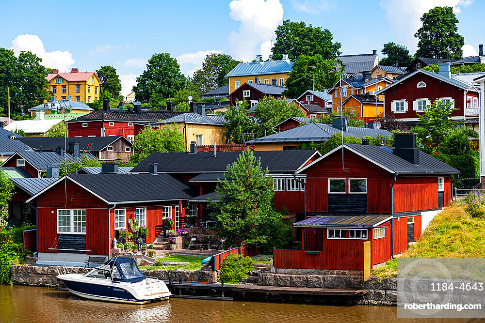 Wooden town of Poorvo, Finland, Europe