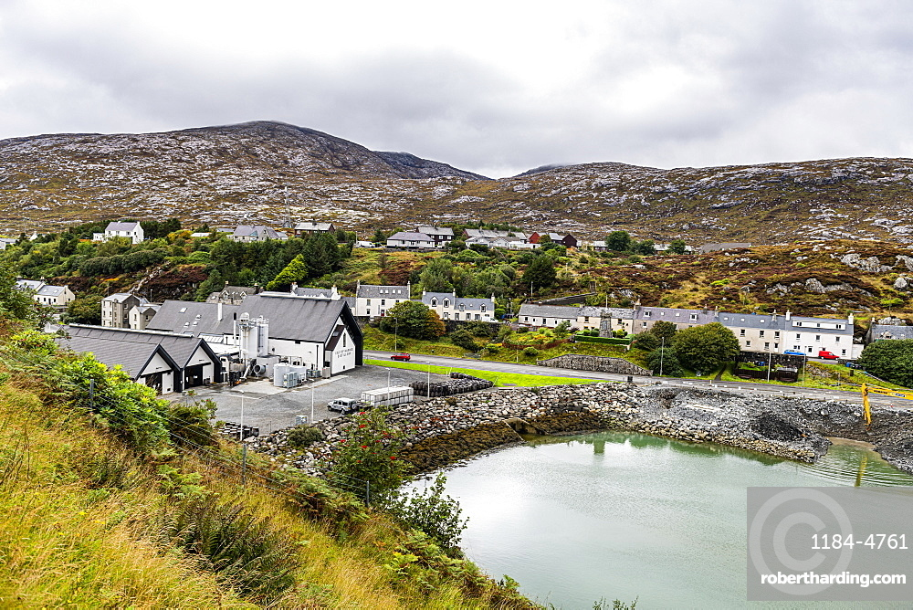 View over Tarbert, Isle of Harris, Outer Hebrides, Scotland, United Kingdom, Europe