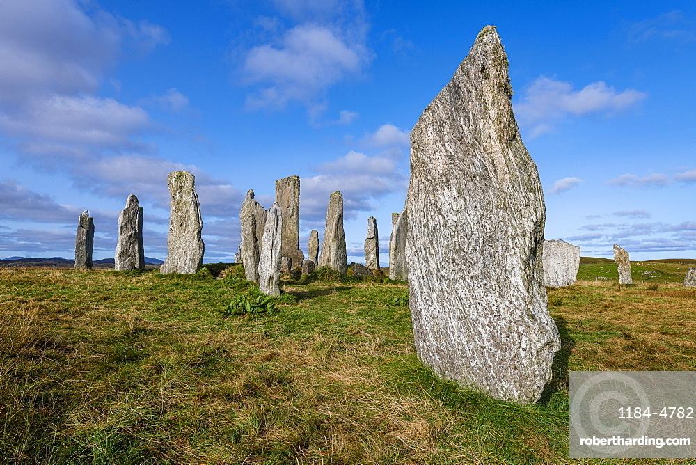 Callanish Stones, standing stones from the Neolithic era, Isle of Lewis, Outer Hebrides, Scotland, United Kingdom, Europe