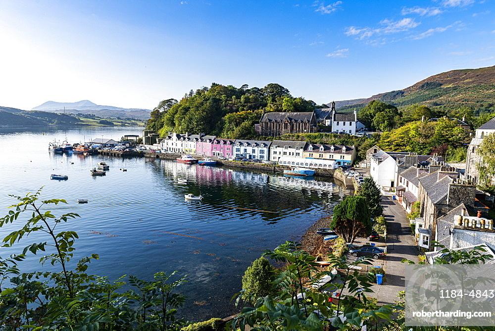 Harbour of Portree, Isle of Skye, Inner Hebrides, Scotland, United Kingdom, Europe