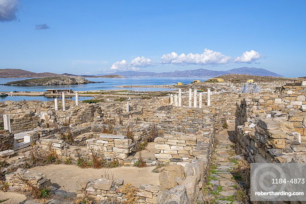 Delos, UNESCO World Heritage Site, near Mykonos, Cyclades, Greek Islands, Greece, Europe