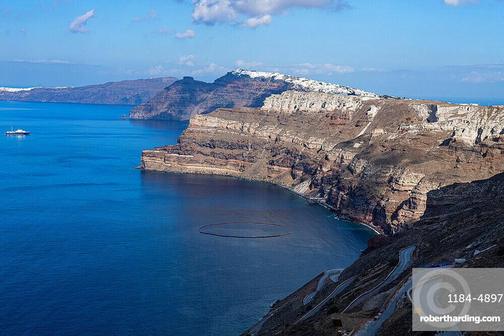 Panoramic view of the Santorini caldera, Santorini, Greece