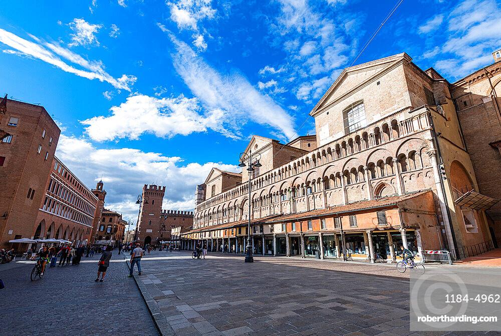 Gothic cathedral, Unesco world heritage site Ferrara, Italy