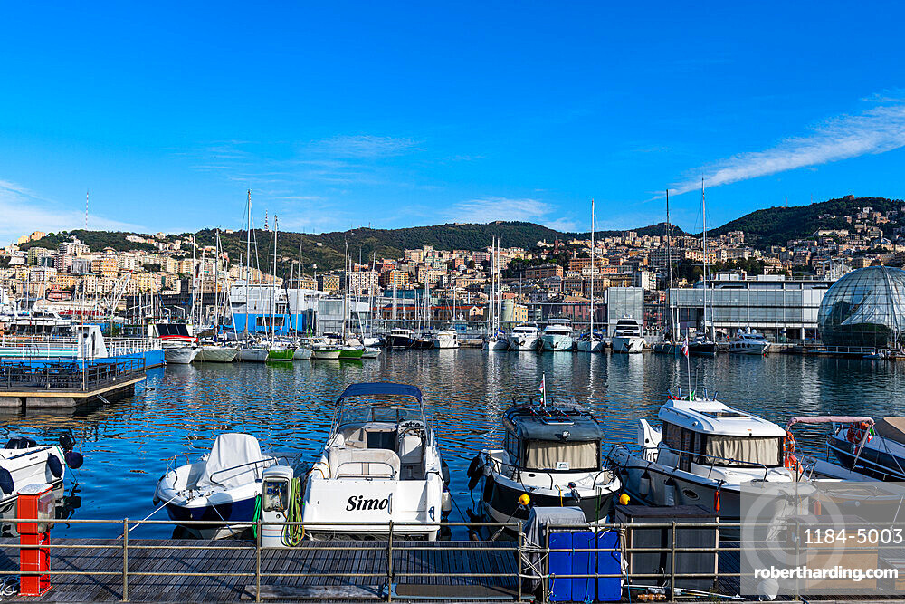 Harbour of Genoa, Unesco world heritage site Genoa, Italy