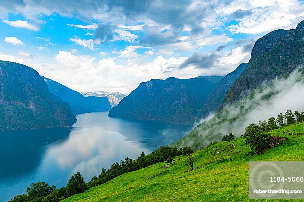 Overlook over Aurlandsfjord, Aurland, Norway