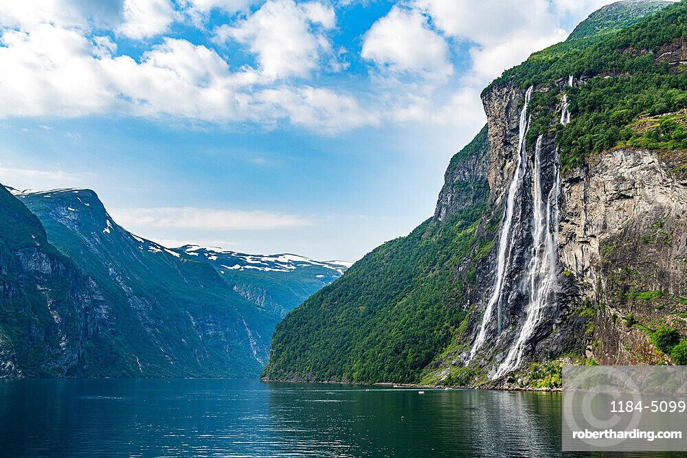 Waterfall in Geirangerfjord, Sunmore, Norway