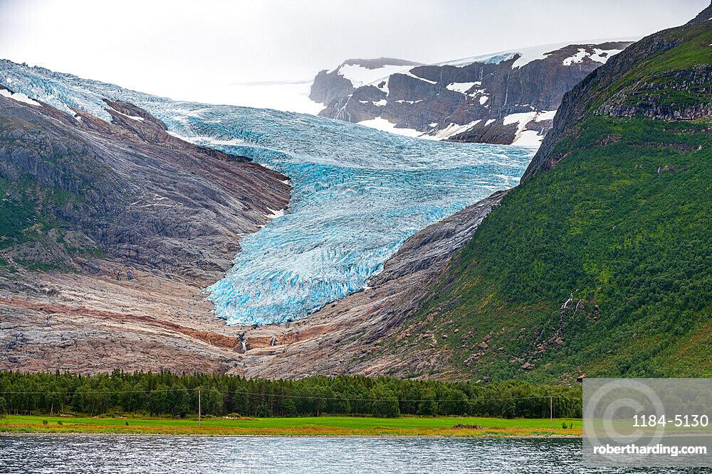 Svartisen glacier, Kystriksveien Coastal Road, Norway