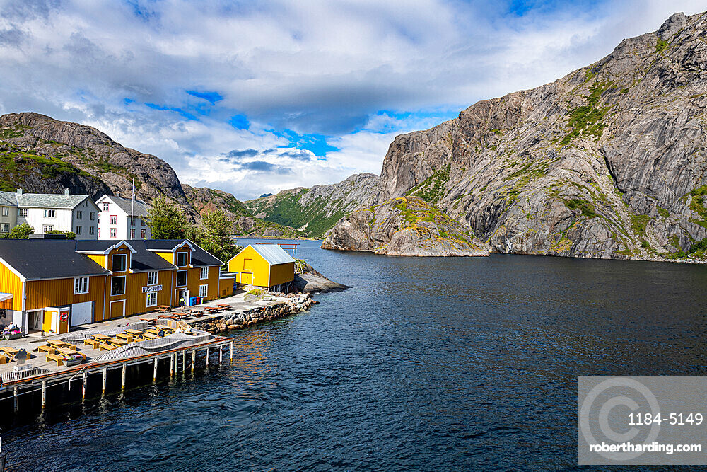 Harbour of the little fishing village of Nusfjord, Lofoten, Norway