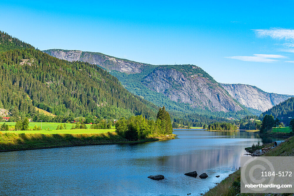 Lake in Setesdalen, Norway