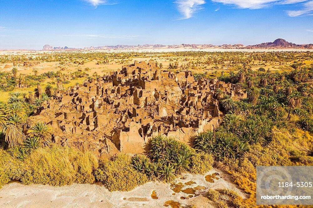 Fort of Pacot or Djado, Djado plateau, Tenere desert, Niger