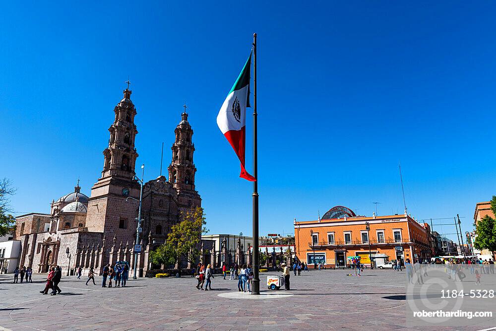 Catedral, Basilica de Nuestra Senora de la Asuncion, La Patria Oriente square, Aguascalientes, Mexico, North America