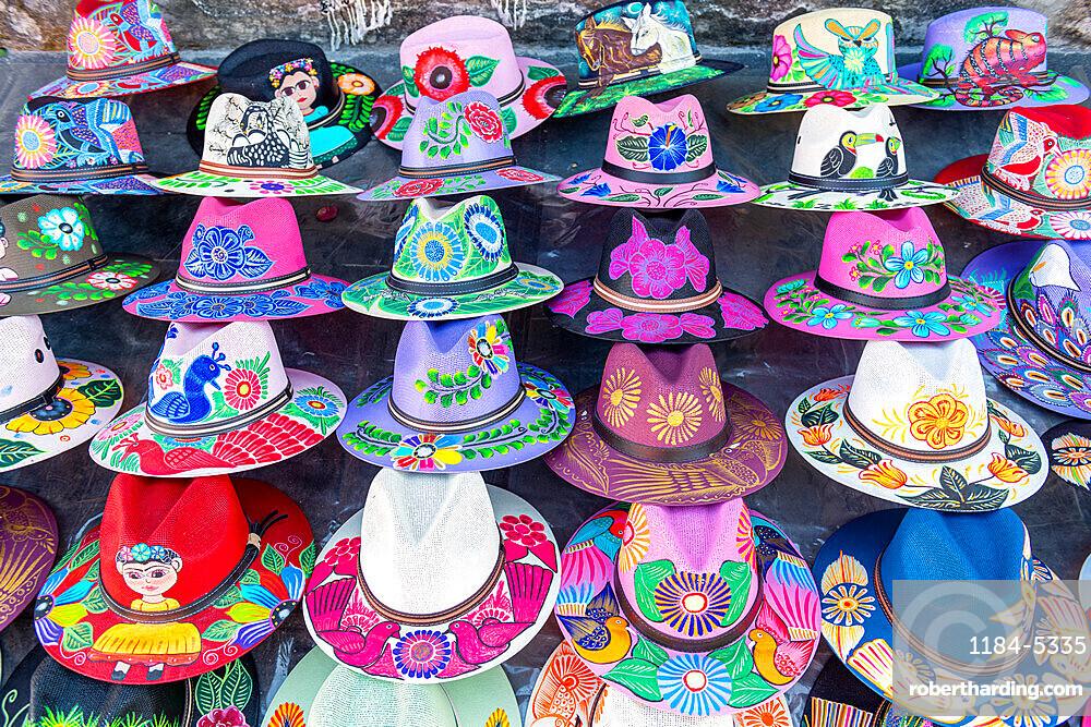 Colourful hats for sale, Cuernavaca, Mexico, North America