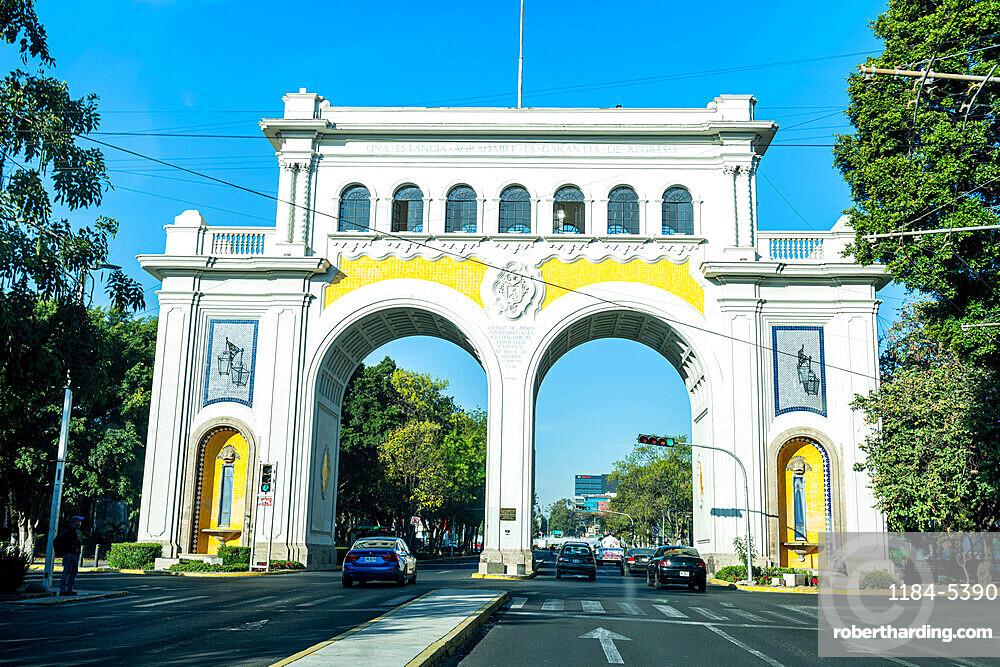 Entry gate to Guadalajara, Guadalajara, Jalisco, Mexico, North America