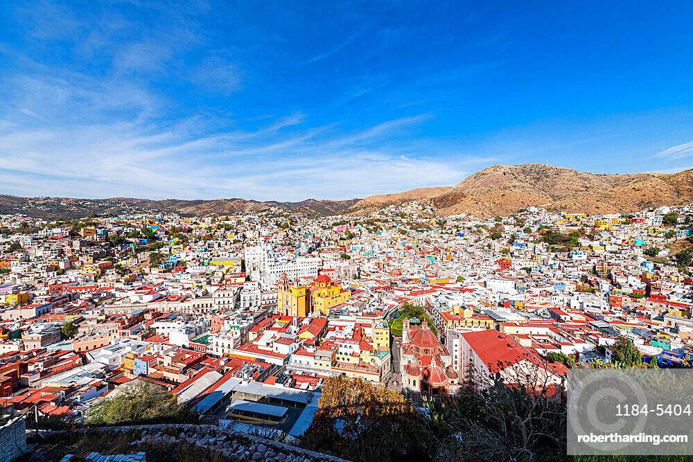Overlook over the Unesco site Guanajuato, Mexico