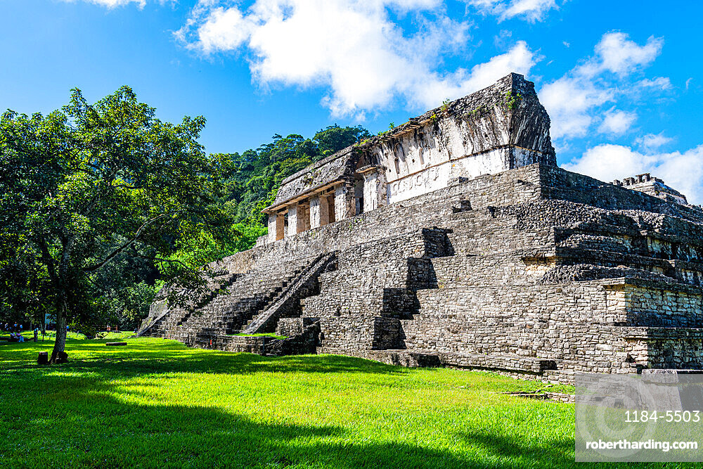 Unesco world heritage site the Maya ruins of Palenque, Chiapas, Mexico