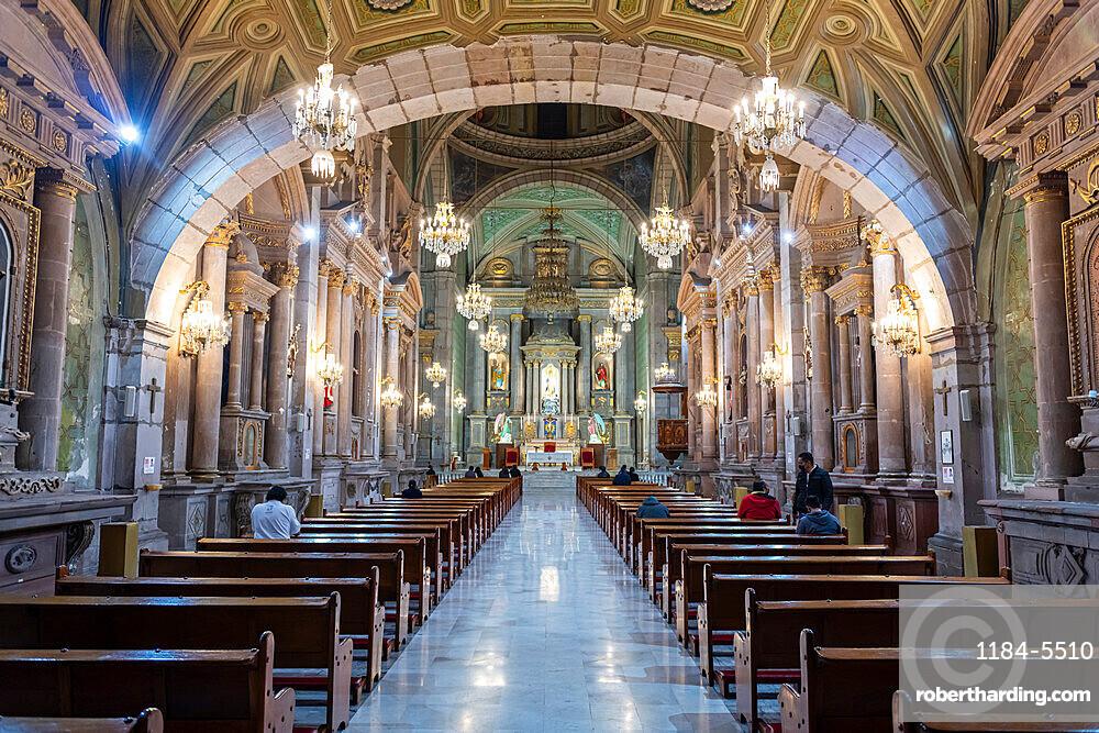 Interior of the Templo de San Francisco, UNESCO World Heritage Site, Queretaro, Mexico, North America
