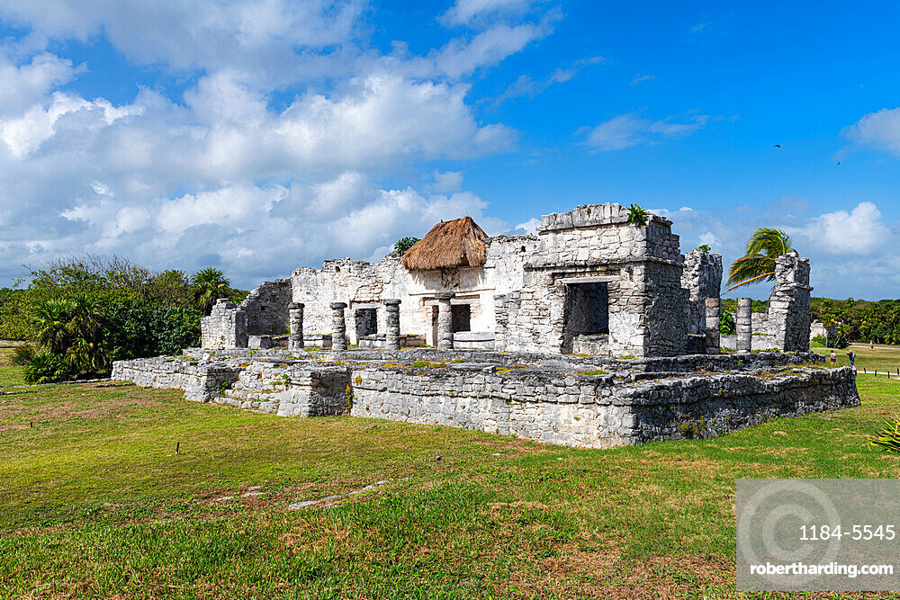 Pre-Columbian Mayan walled city of Tulum, Quintana Roo, Mexico, North America