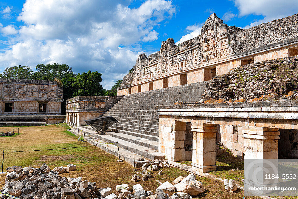 The Maya ruins of Uxmal, UNESCO World Heritage Site, Yucatan, Mexico, North America