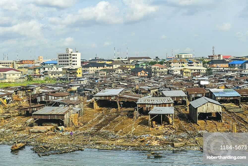Maokoko floating market, Lagos, Nigeria, West Africa, Africa
