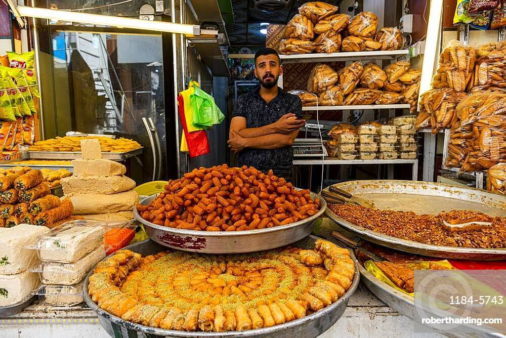Man selling sweets, Kerbala, Iraq, Middle East