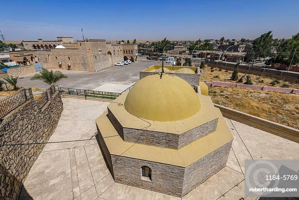 View over the Saint Mar Behnam Monastery, northern Iraq, Middle East