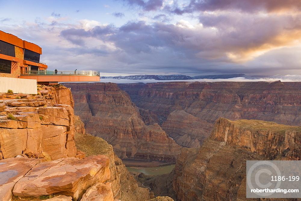 Sky Walk over the Grand Canyon and Colorado River, UNESCO World Heritage Site, Arizona, United States of America, North America