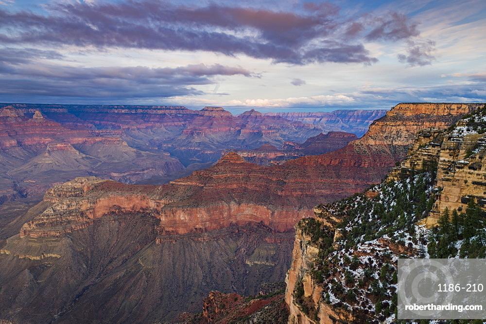 Sunset over Grand Canyon South Rim, UNESCO World Heritage Site, Arizona, United States of America, North America