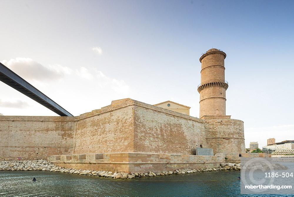 MUCEM and Fort Saint Jean, Marseille, Bouches du Rhone, Provence, Provence-Alpes-Cote d'Azur, France, Mediterranean, Europe