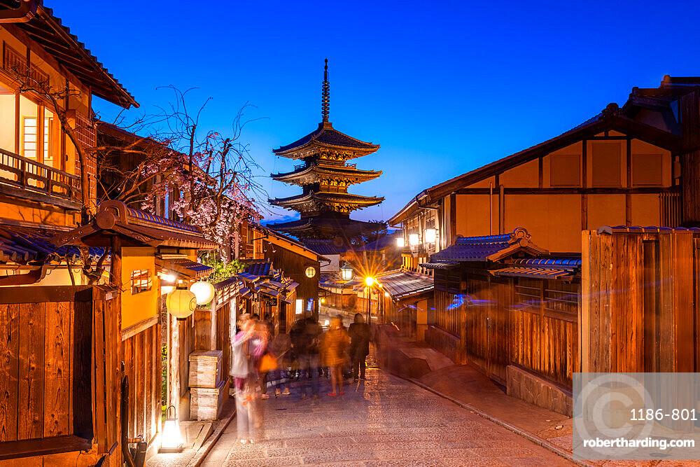 Hōkanji Temple at sunset Kyoto, Japan, Asia