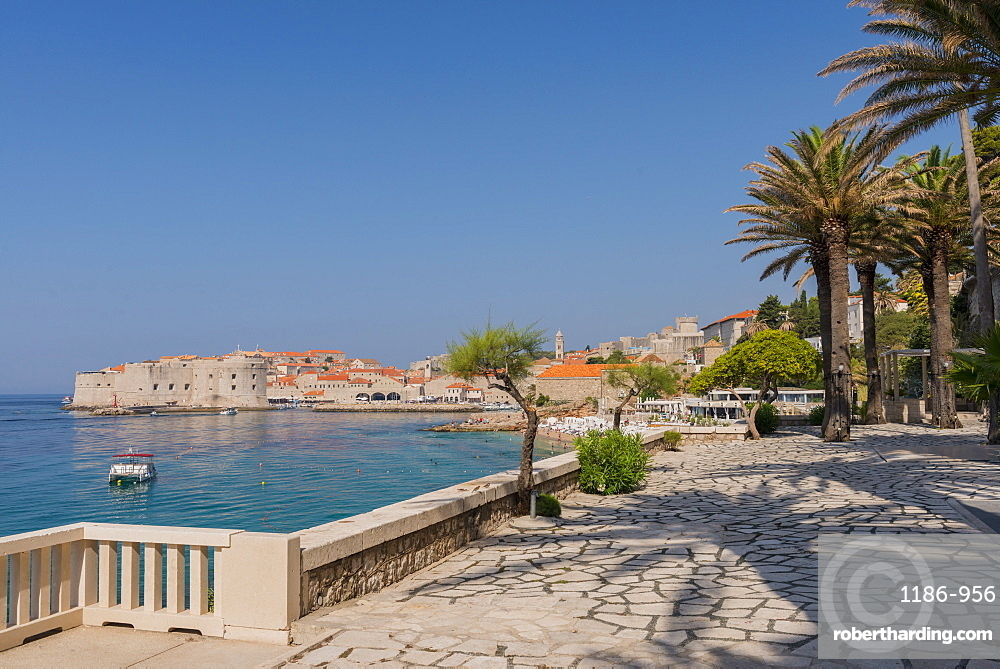 View of the old town from Hotel Excelsior, Dubrovnik, Croatia, Europe