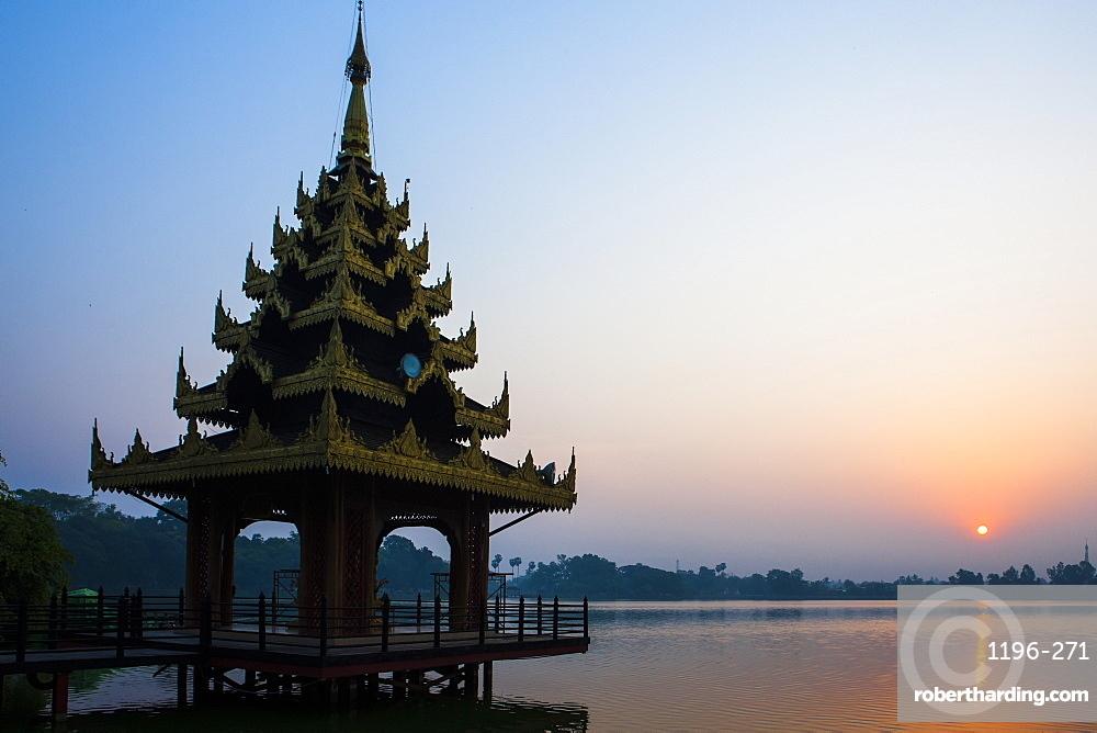 Early morning view of Royal Kaytumadi Hotel, Toungoo, Myanmar (Burma), Asia