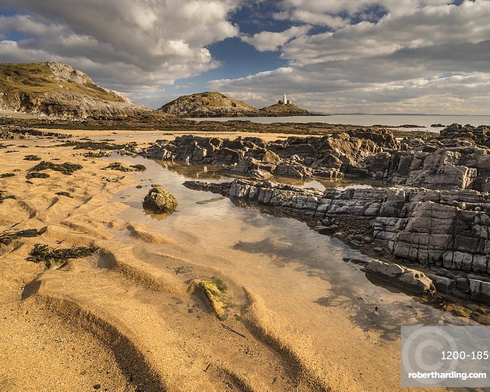 Low tide, Bracelet Bay, Mumbles, Gower, South Wales, United Kingdom, Europe
