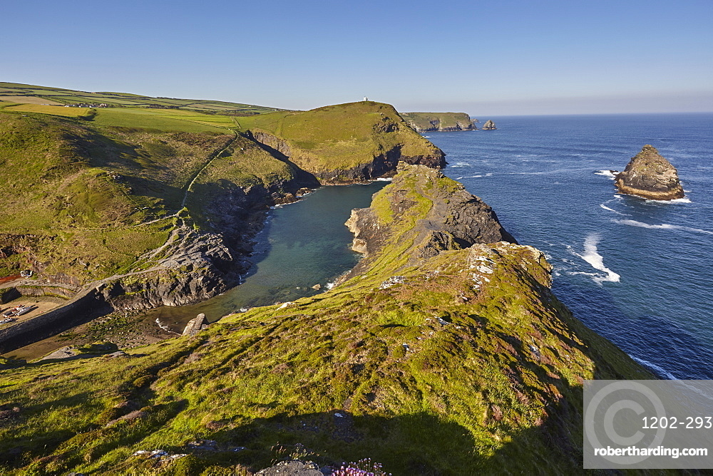 The spectacular cove and harbour at Boscastle, near Tintagel, on the Atlantic coast of north Cornwall, England, United Kingdom, Europe