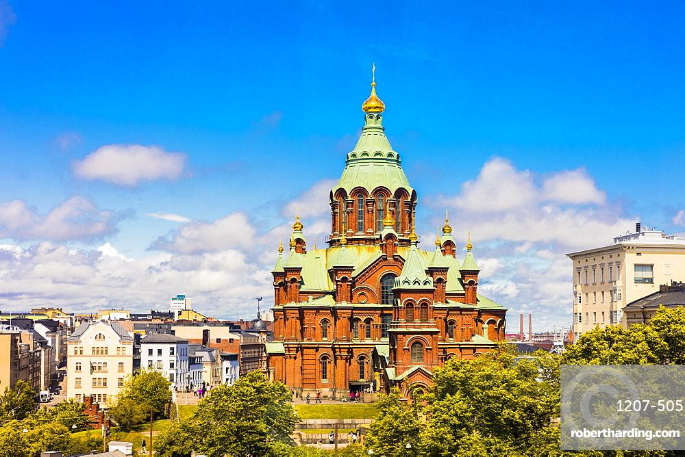 Uspenski Cathedral in Helsinki, Finland, Europe