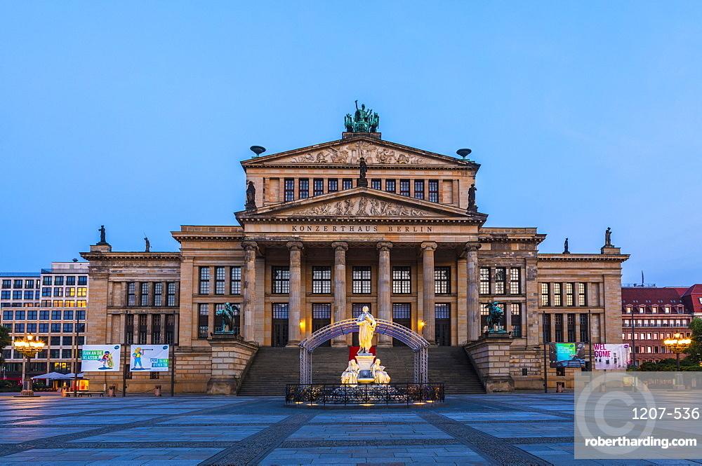 Konzerthaus Berlin at sunset on Gendarmenmarkt square in Berlin, Germany, Europe