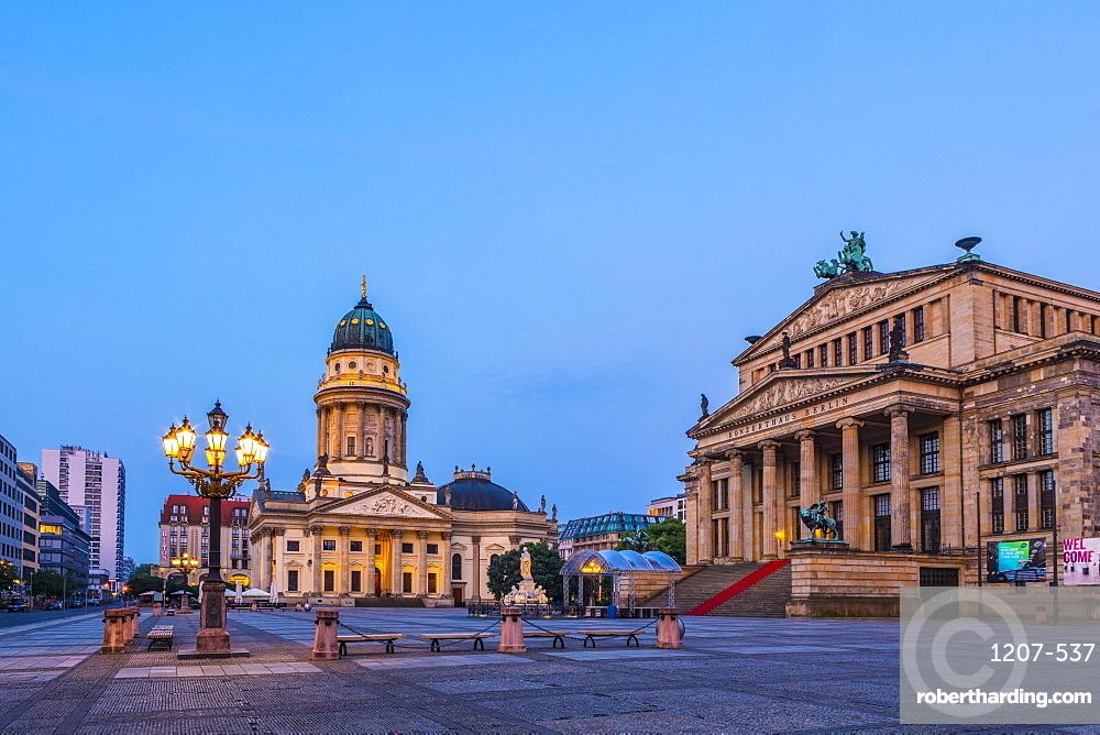Deutscher Dom and the Concert Hall in Gendarmenmarkt, Berlin, Germany, Europe
