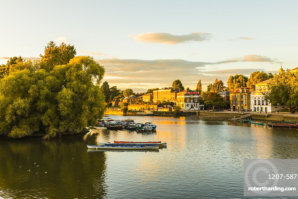 Boats on River Thames in Richmond, England, Europe