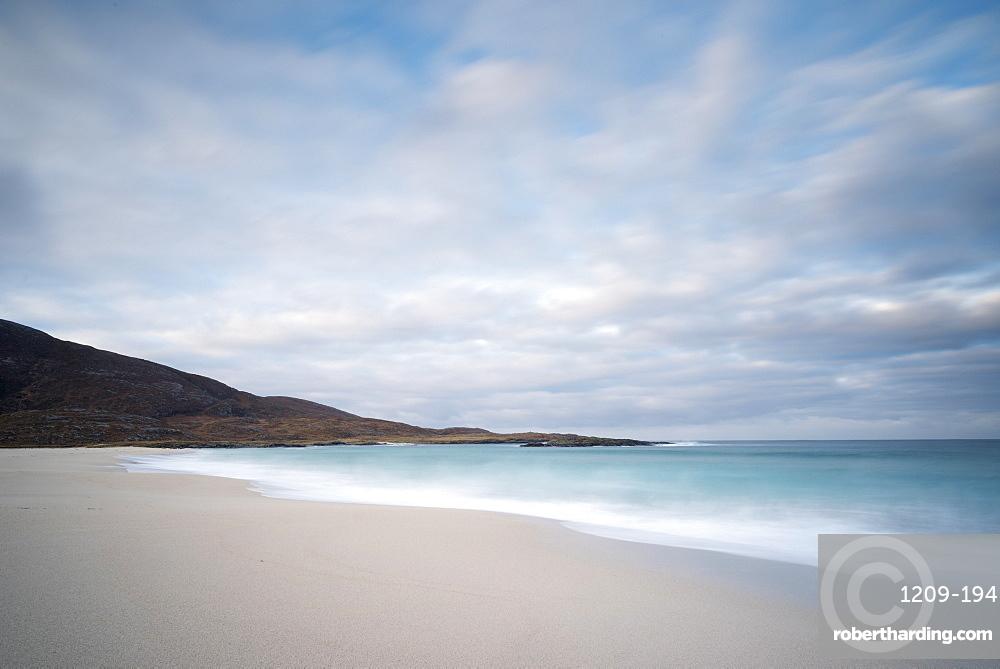 Dawn at Tangasdale Beach (Halaman Bay), Barra, Outer Hebrides, Scotland, United Kingdom, Europe