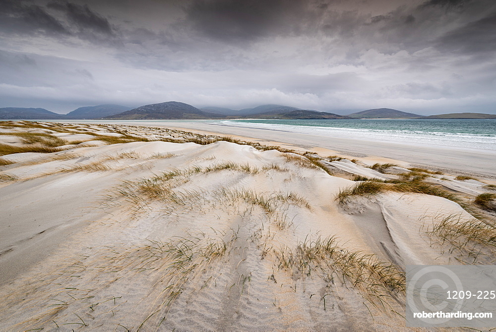 Sand dunes, Luskentyre Beach, West Harris, Outer Hebrides, Scotland, United Kingdom, Europe