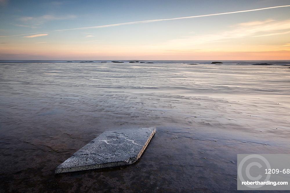 Sunrise, Saltwick Bay, Yorkshire, England, United Kingdom, Europe