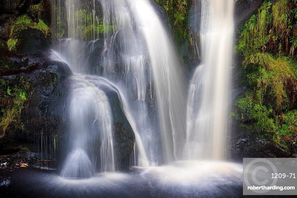 Posforth Gill Waterfall, Bolton Abbey, Yorkshire Dales, Yorkshire, England, United Kingdom, Europe