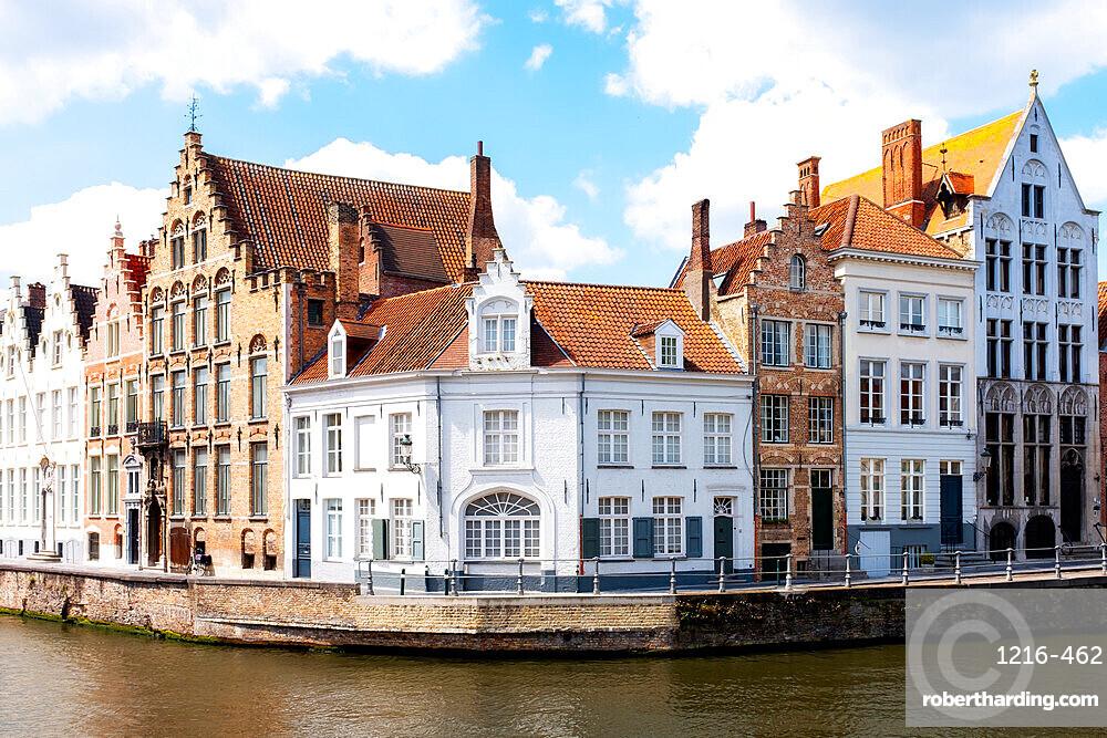 Spiegelrei corner, Bruges, West Flanders province, Flemish region, Belgium, Europe
