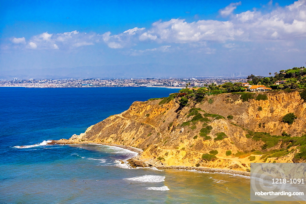 View of Cliffs in Rancho Palos Verdes, California, United States of America, North America