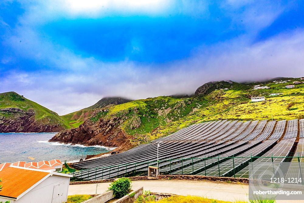 Solar power on Saba Island, Netherlands Antilles, West Indies, Caribbean, Central America