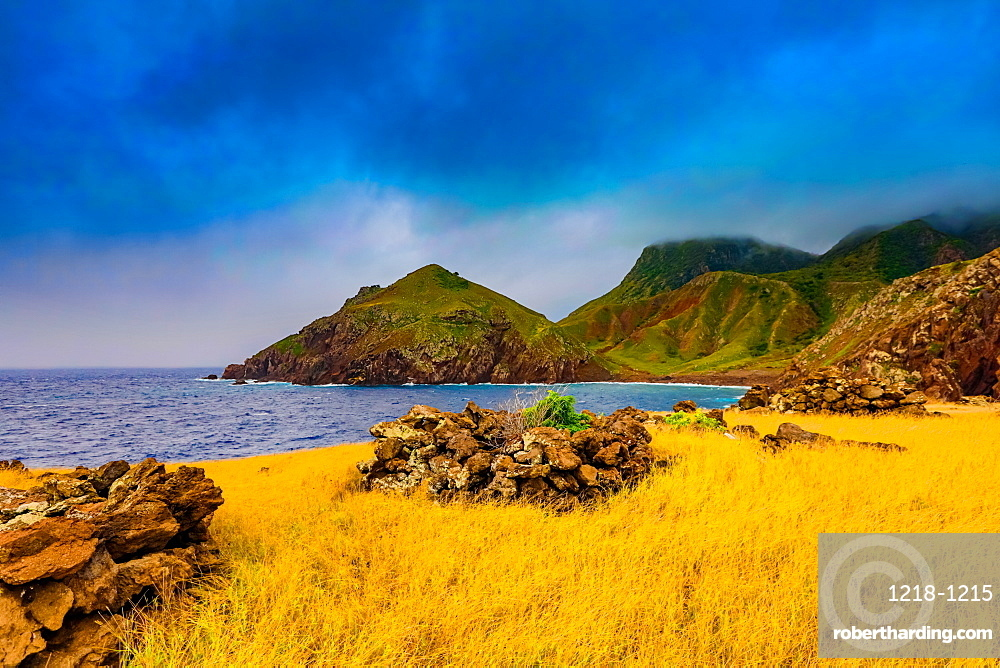 Beautiful view on Saba Island, Netherlands Antilles, West Indies, Caribbean, Central America