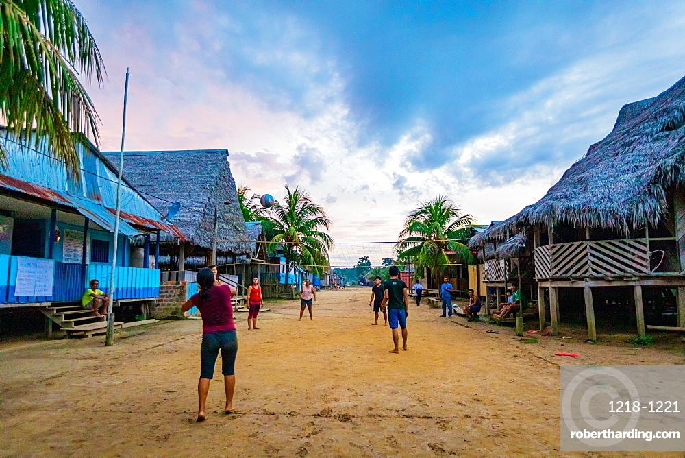 Local village along the Amazon River, Peru, South America