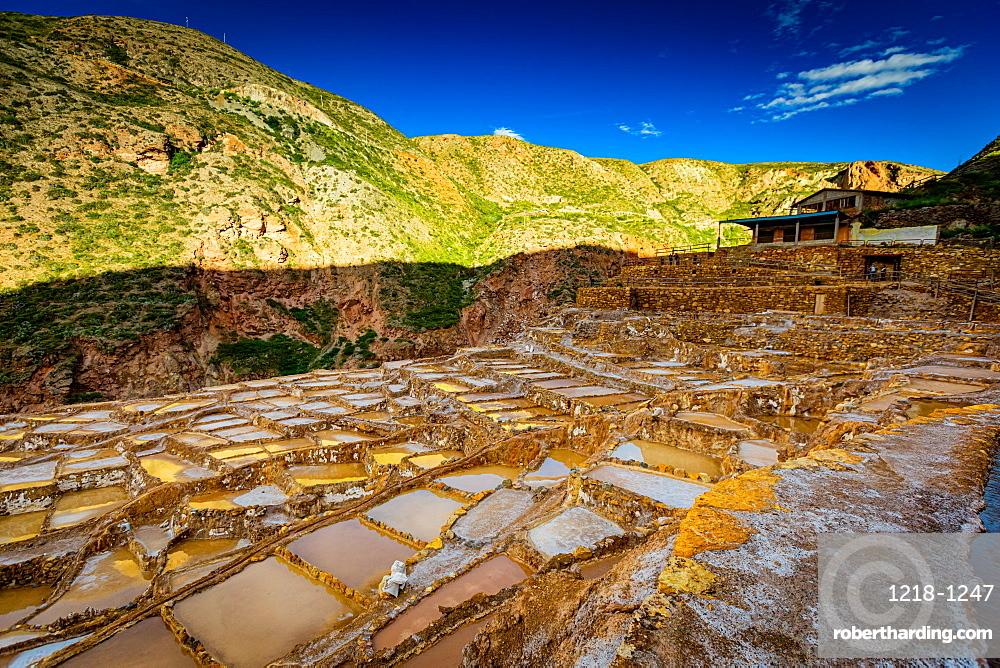 Salt mines, Maras, Sacred Valley, Peru, South America