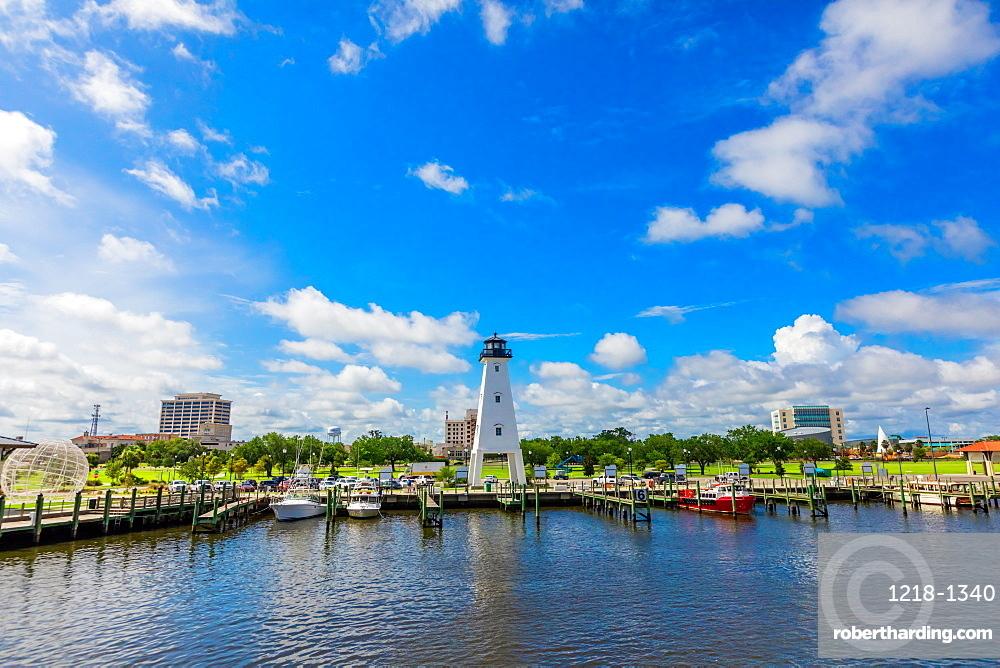 The Gulfport Lighthouse.