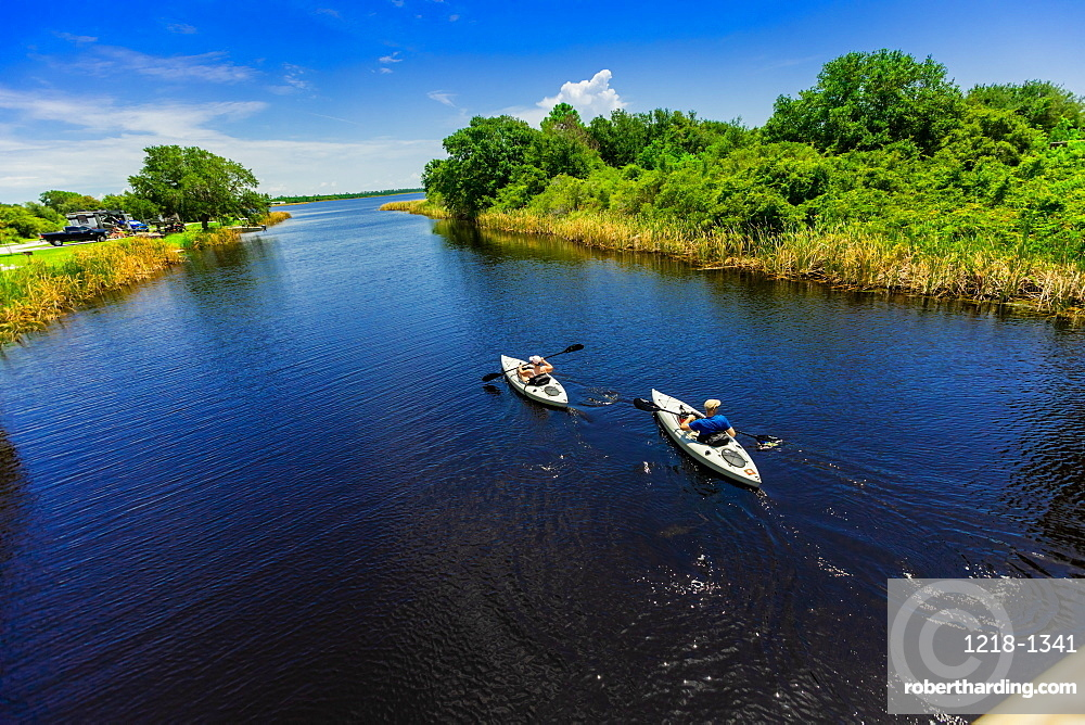 Kayaking through Cotton Bayou.